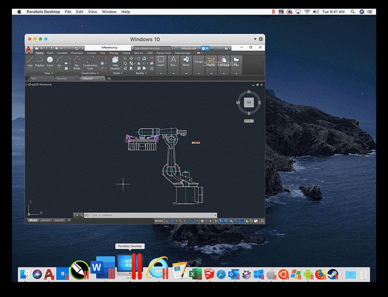 Parallels Desktop 运行CAD